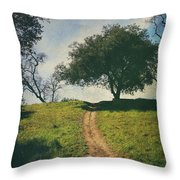 It's Time To Get Up That Hill Throw Pillow by Laurie Search