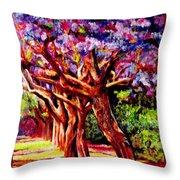 Jacaranda Lane Throw Pillow by Michael Durst