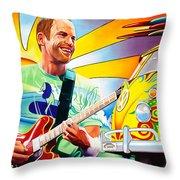 Jack Johnson Throw Pillow by Joshua Morton