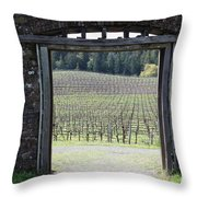 Jack London Ranch Winery Ruins 5D22132 Throw Pillow by Wingsdomain Art and Photography