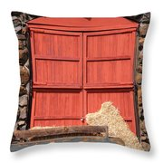 Jack London Stallion Barn 5D22103 Throw Pillow by Wingsdomain Art and Photography