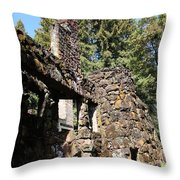 Jack London Wolf House 5d22019 Throw Pillow by Wingsdomain Art and Photography