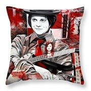 Jack White Throw Pillow by Joshua Morton