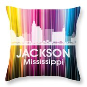 Jackson Ms 2 Throw Pillow by Angelina Vick