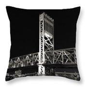 Jacksonville Florida Main Street Bridge Throw Pillow by Christine Till