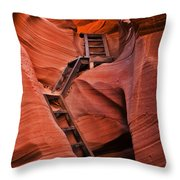 Jacob's Ladder Throw Pillow by Mike  Dawson