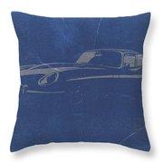 Jaguar E Type Throw Pillow by Naxart Studio