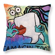 Jamaican Tooth Throw Pillow by Anthony Falbo