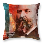 James A. Garfield Throw Pillow by Corporate Art Task Force