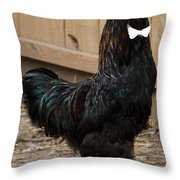 James Bond Is Here Throw Pillow by Donna Brown