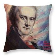 James Buchanan Throw Pillow by Corporate Art Task Force