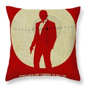 James Poster Red 3 Throw Pillow by Naxart Studio
