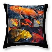 Japanese Koi Throw Pillow by Kaye Menner