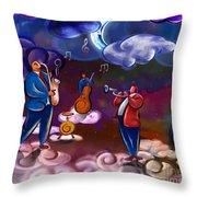 Jazz In Heaven Throw Pillow by Bedros Awak