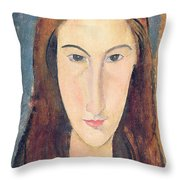 Jeanne Hebuterne Throw Pillow by Amedeo Modigliani
