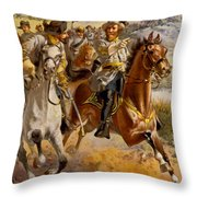 Jeb Stuart Civil War Throw Pillow by Henry Alexander Ogden