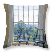 Jefferson And A Friend At Monticello Throw Pillow by Candace Lovely