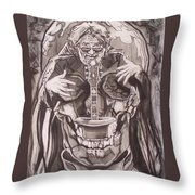 Jerry Garcia . . Magic Is What We Do - Music Is How We Do It Throw Pillow by Sean Connolly