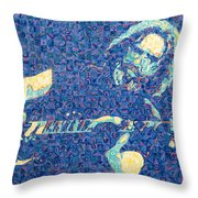 Jerry Garcia Chuck Close Style Throw Pillow by Joshua Morton