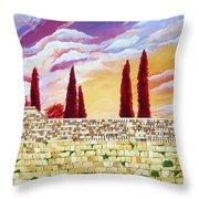 Jerusalem Prayers Throw Pillow by Dawnstarstudios