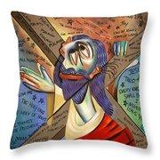 Jesus Throw Pillow by Anthony Falbo