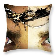 Jesus Christ - How Do You See Me Throw Pillow by Sharon Cummings