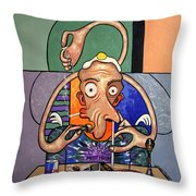 Jesus Is The Most High Throw Pillow by Anthony Falbo