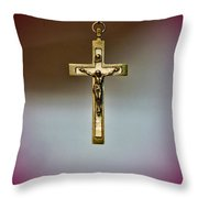 Jesus On The Cross 3 Throw Pillow by Paul Ward