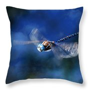 Jet Blue Throw Pillow by Donna Kennedy