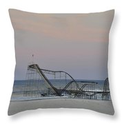 Jet Star At Dusk Throw Pillow by Terry DeLuco