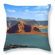 Jewel in the Desert - Lake Powell Throw Pillow by Christine Till