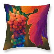 Jewels Of The Vine Throw Pillow by Sandi Whetzel