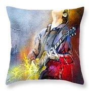 Joe Bonamassa 02 Throw Pillow by Miki De Goodaboom