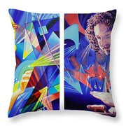 Joel and Andy Throw Pillow by Joshua Morton