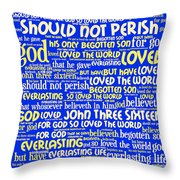 John 3-16 20130622 Throw Pillow by Wingsdomain Art and Photography