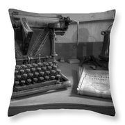 John F Kennedy Throw Pillow by Debra and Dave Vanderlaan