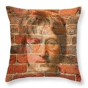 John Lennon 2 Throw Pillow by Andrew Fare