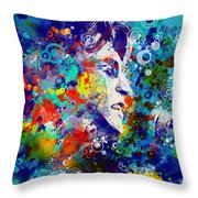 John Lennon 3 Throw Pillow by MB Art factory