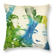 John Lennon and yoko ono Throw Pillow by Aged Pixel