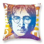 John Lennon Pop Art Throw Pillow by Jim Zahniser