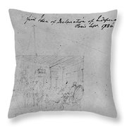 John Trumbull Sketch Throw Pillow by Granger