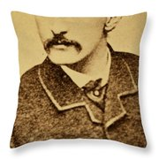 John Wilkes Booth Throw Pillow by Anonymous
