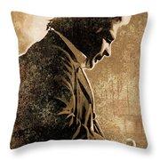 Johnny Cash Artwork Throw Pillow by Sheraz A