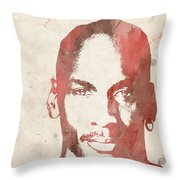 Jordan Throw Pillow by Paulette B Wright