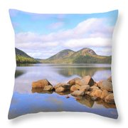 Jordan Pond Throw Pillow by Roupen  Baker