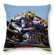 Jorge Lorenzo Throw Pillow by Paul Meijering