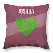 Joshua Books Of The Bible Series Old Testament Minimal Poster Art Number 6 Throw Pillow by Design Turnpike