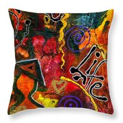Joyfully Living Life Anew Throw Pillow by Angela L Walker