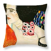 Judith II Throw Pillow by Gustav Klimt