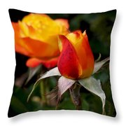 Judy Garland Rose Throw Pillow by Rona Black